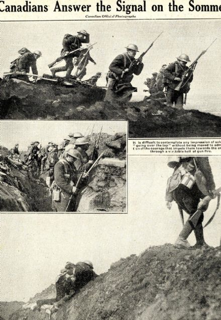 1916 WW1 Magazine CANADIANS Over Top TRENCHES POWs Gorlitz SOMME FRONT War (6110
